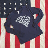 SC HOME tee -long sleeve - youth (navy or charcoal heather)