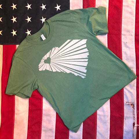 Greenville heart with rays (green) short-sleeve