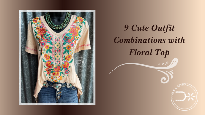 9 Cute Outfit Combinations with Floral Top