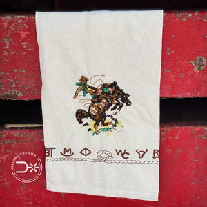 Branded Bronc Kitchen Towel