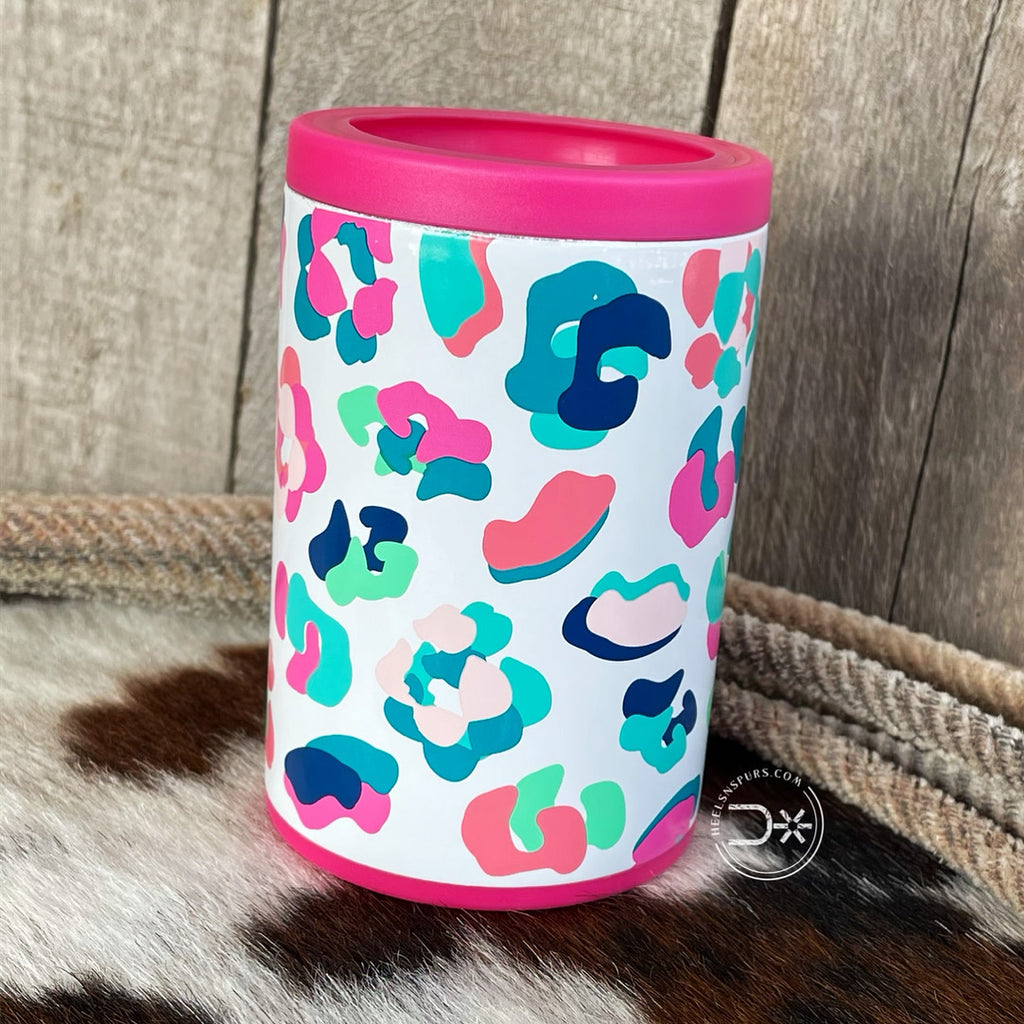 Neon Leopard Regular Can Cooler 12oz