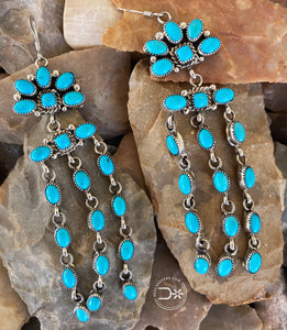 Turquoise Raincloud Dangle Earrings