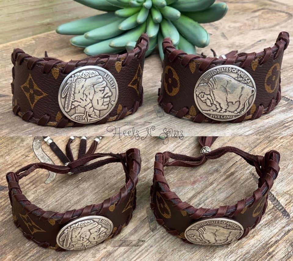 Upcycled Coin Cuffs