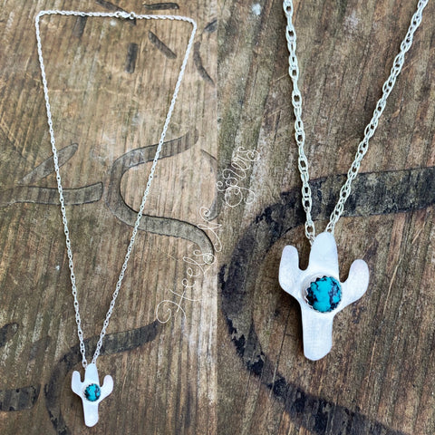 Cactus Turquoise Necklace