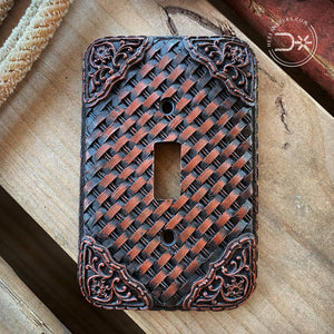 Basket Weave Single Switch Cover