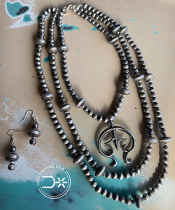 3 Strand Silver Naja Necklace