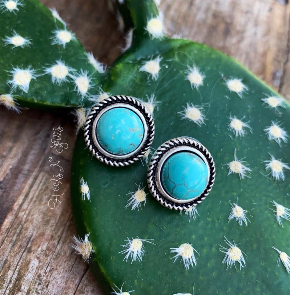 Cowgirl Turquoise Studs