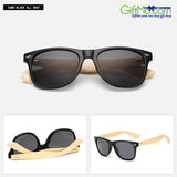 Sporty Mens Womens Wooden Wood Retro Fashion Summer Glasses Bamboo Sunglasses - GiftMo