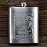 7 oz Stainless Steel Hip Liquor Whiskey Alcohol Pocket Flask with Portable Funnel