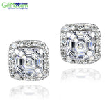 925 Silver 3ct Asscher-Cut CZ Stud Earrings - GiftMo
