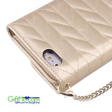 Adorable Chevron Clubbing Durable Flexable Quilted Wristlet Wallet Clutch Purse iPhone 6 Plus