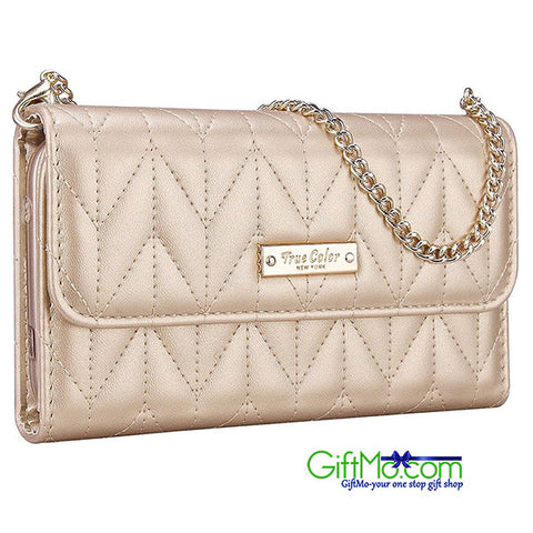 Adorable Chevron Clubbing Durable Flexable Quilted Wristlet Wallet Clutch Purse iPhone 6 Plus - GiftMo