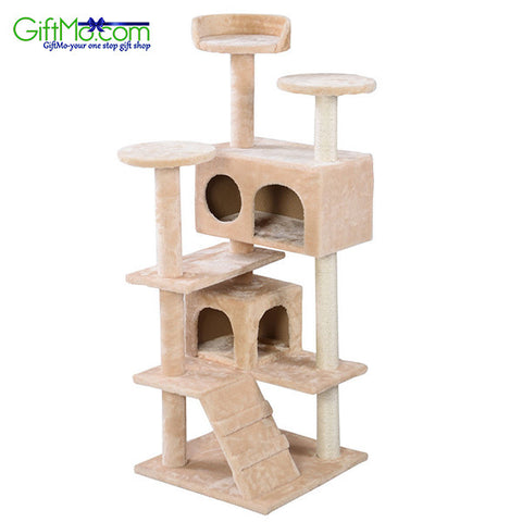 "Amazing 66"" Cat Tree Tower Condo Furniture Scratching Post Pet Kitty Play House - GiftMo"