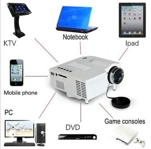 Amazing High Definition Portable Mini LED HDMI Projector - GiftMo