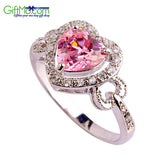 Beautiful Pink & White Topaz Gems Women's Jewelry Fashion Ring - GiftMo