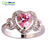 Beautiful Pink & White Topaz Gems Women's Jewelry Fashion Ring Only 5$ For A Limited Time! Only One Ring Per Customer - GiftMo