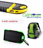 Amazing Waterproof Solar Charger 5000Mah Dual USB Powerbank For Portable Devices