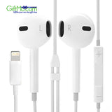 Apple iphone 7 / 7 Plus 8 Pin Earphone Wired Headset - GiftMo