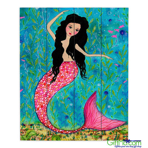 Beautiful DiaNoche Designs Dancing Mermaid by Sascalia Painting Print Plaque - GiftMo