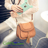 Beautiful Fashion Hollow Out Versatile Saddle Leather Messenger Bag