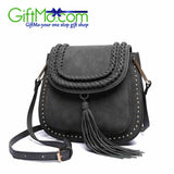 Beautiful Fashion Hollow Out Versatile Saddle Leather Messenger Bag - GiftMo