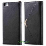 Beautiful Magnetic Wallet Leather Card Photo Slots Purse iPhone Case