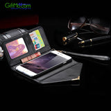 Beautiful Magnetic Wallet Leather Card Photo Slots Purse iPhone Case - GiftMo