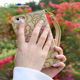 Elegant Rose Magnetic Wallet  Leather Case FLIP Card Slot For iPhone