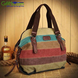 Beautiful Rainbow Rainbow Natural Cotton Canvas Bag - GiftMo