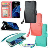 Beautiful Samsung Galaxy S7 / S7 Edge  Leather Wallet Wristlet Case - GiftMo
