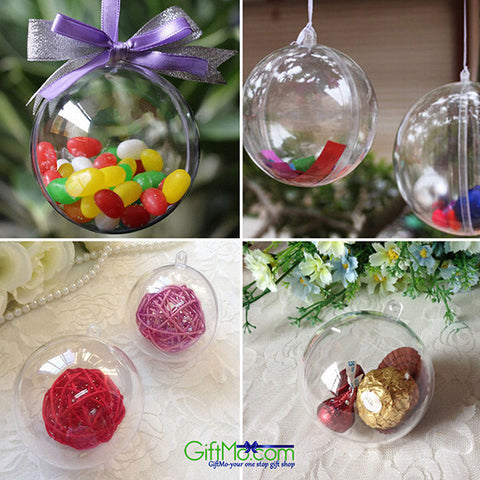 Beautiful and Fun Christmas Hanging Ball Bauble Candy Ornament - GiftMo