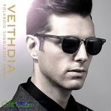 Beautifully Designed Aluminium Polarized Retro Veithdia Sunglasses - GiftMo