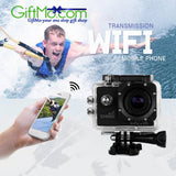 Best UNDERWATER 2 Inch Full HD Display WiFi Sports Action Digital Camera with High DURABLE SHOCKPROOF Case - GiftMo