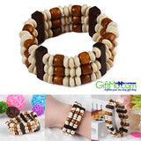 Bohemian Natural Style Wooden Beaded Bracelet - GiftMo