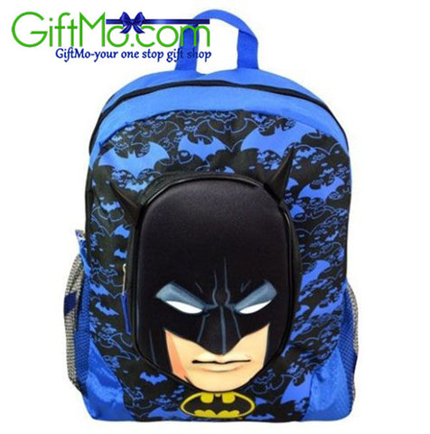 Boys DC Comic Batman Molded Face Large School Backpack - GiftMo