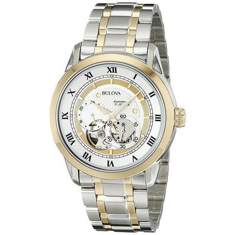 Bulova Men's Two-Tone Stainless Steel Automatic Bracelet Watch - GiftMo