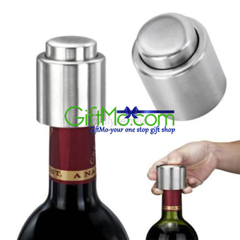 """Buy One Get One Free"" Stainless Steel Wine Vacuum Stoppers"