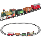 Classic Train Set For Kids With Music and Lights Battery Operated Railway Car - GiftMo