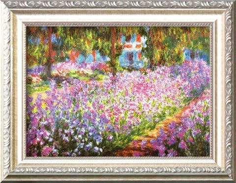 Claude Monet - Artist's Garden at Giverny (Framed) - GiftMo