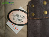 David King Distressed Medium Full Flap Leather Messenger Bag/Laptop Tote - GiftMo