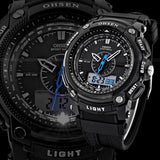 Men Women Digital LCD Alarm Date Military Sport Diving Quartz Wrist Watch - GiftMo