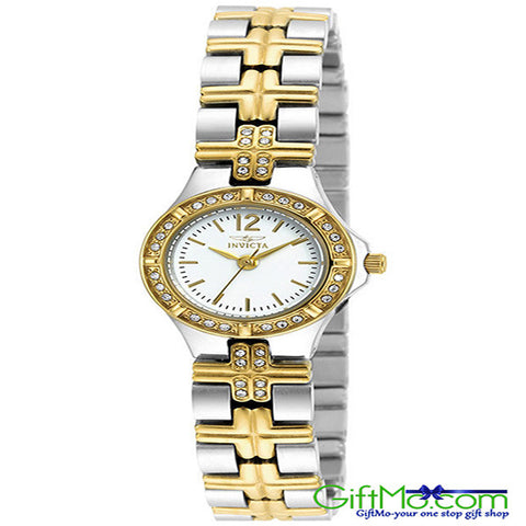 Elegant Invicta Women's Wildflower 18K Gold plated and SS White Dial - GiftMo