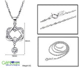 "Elegant ""You Hold My Heart"" Sterling Silver Necklace Pendant - GiftMo"