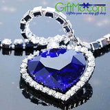 Eye Catching Heart of Ocean Necklace - GiftMo
