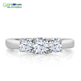 Fabulous 1.16 Ct Round White Topaz Gemstone Birthstone 925 Sterling Silver Ring - GiftMo