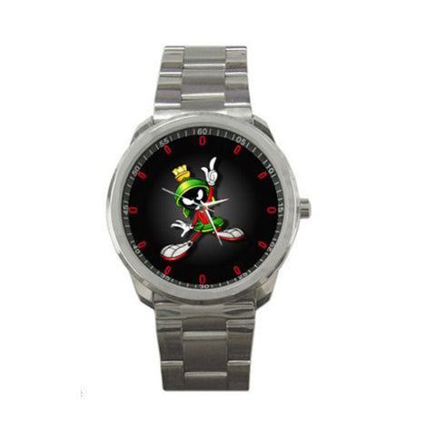 Fun To Wear Marvin The Martian Logo Sport Metal Watch - GiftMo