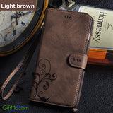 Retro Leather Flip Wallet Cover iPhone Case