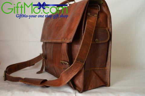 Genuine Leather Retro Durable Laptop Briefcase - GiftMo