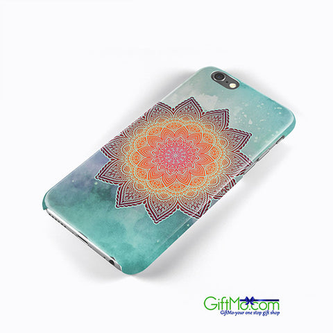 Beautiful Green Mandala Flower Hard Case Cover Apple iPhone 6 6S iPhone 7 7 Plus - GiftMo