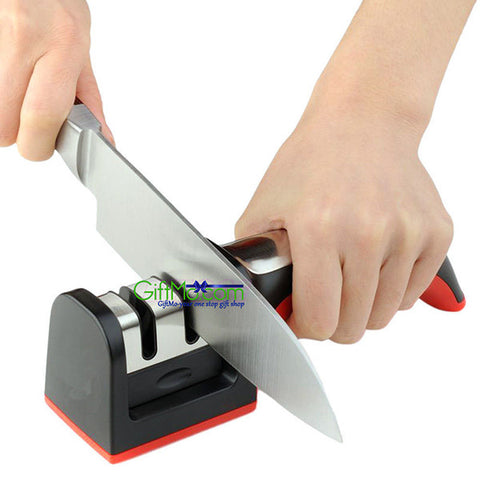 Hard Carbide Ceramic Sharpening Stone 2 Stages Handle Household Knife Sharpener - GiftMo